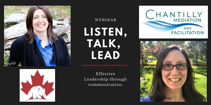 Listen, Talk, Lead Webinar